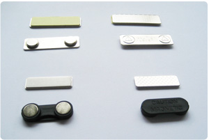 Plastic Back Small Magnetic Name Badge with Self Adhesive 33mm x 13mm